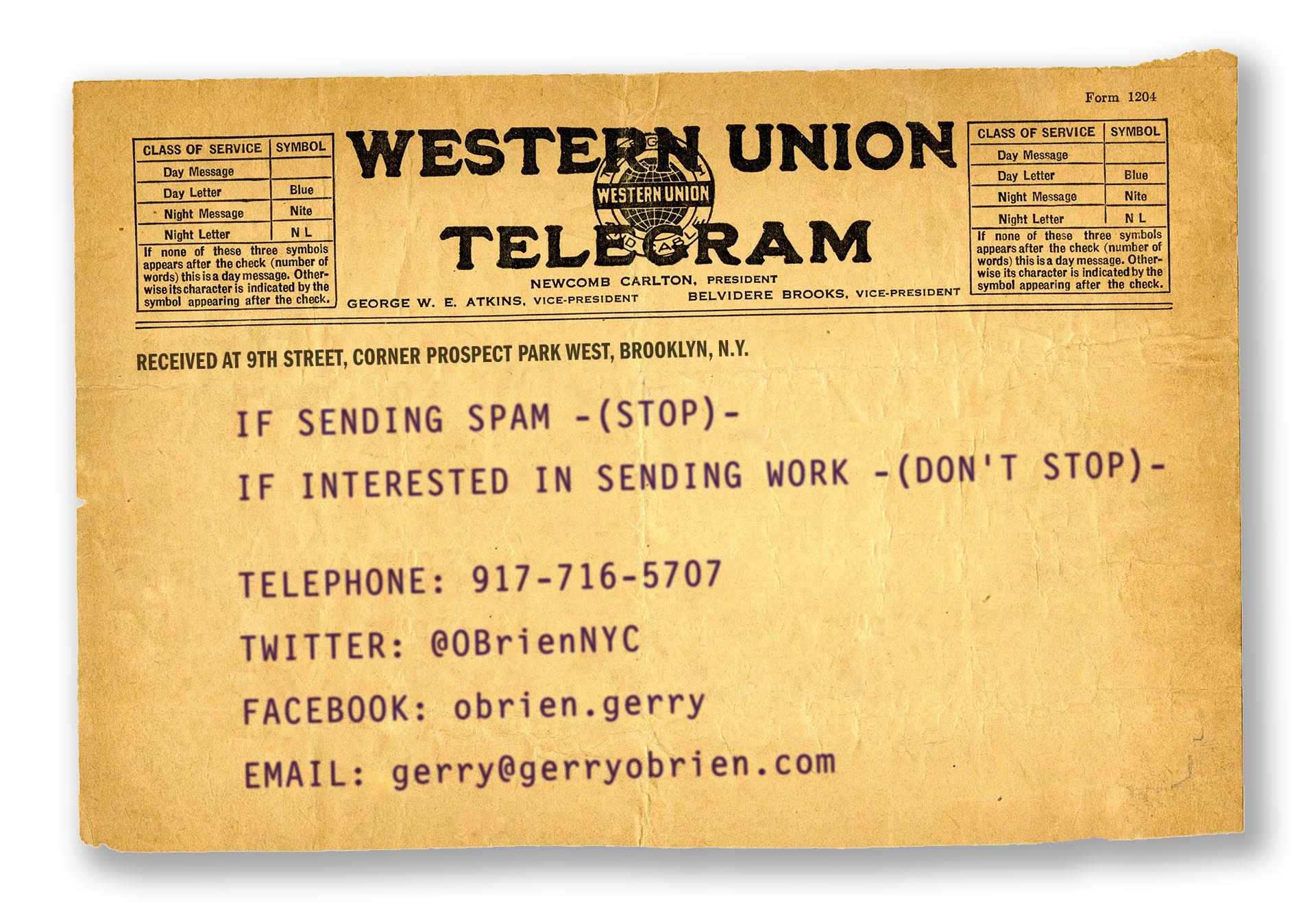 O'Brien Contact Telegram